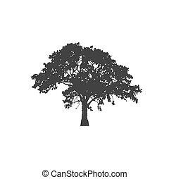 tree icon, vector