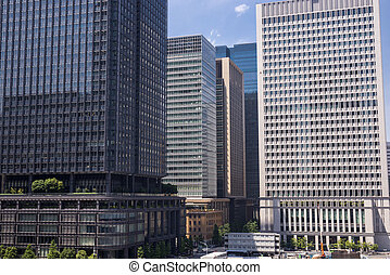 High rise buildings - Dense of high rise buildings in...