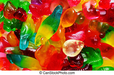 colorful fruit gum - colorful fruit and animal shape jelly...