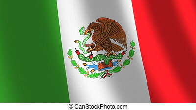 Flag Mexico moving wind