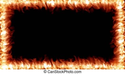 Fire flame border overlay hot heat effects 4k