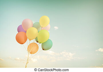 pastell,  balloon