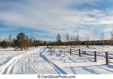 winter rural road