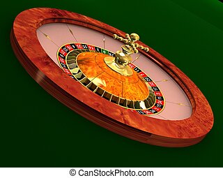 roulette wheel - 3d rendered illustration of a roulette...