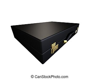 executive case  - 3d rendered illustration of a black case