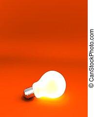 lightbulb - 3d rendered illustration of an isolated...