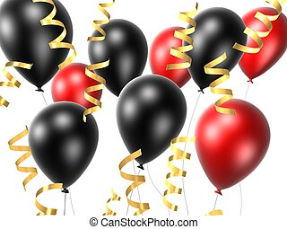 celebration balloons - 3d renered illustration of red and...