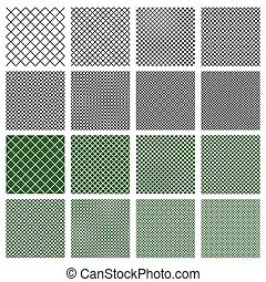 Set of 8 seamless geometric pattern tiles with different...