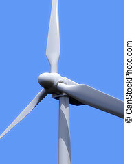 windmills - 3d rendered illustration from a part of a...
