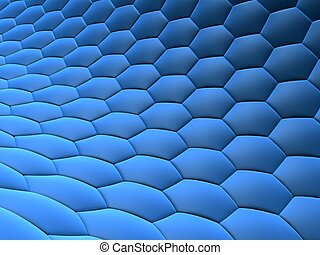 abstract cells - 3d rendered illustration of a blue cell...