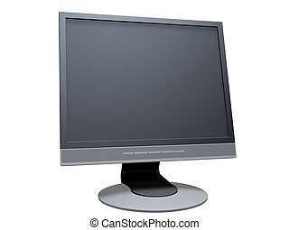 lcd display - 3d rendered illustration of a computer monitor...