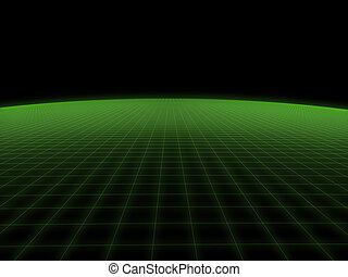 digital world - 3d rendered illustration of a green...