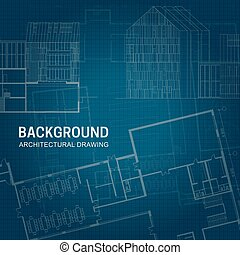Architectural background. Vector engineering drawings on...