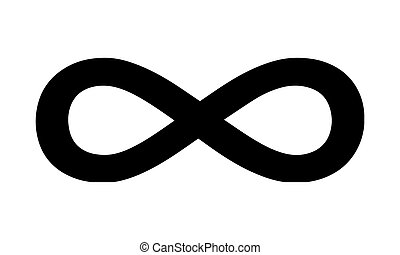 Pictogram - Infinity symbol, Forever, Abyss, Endlessness,...