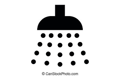 Pictogram - Shower, Douche, Shower head, Water, Wash, Rain...