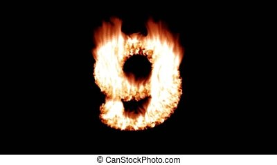 Flame countdown fire top 10 ten font hot numbers overlay 4k