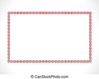 artistic red border - abstract artistic red border