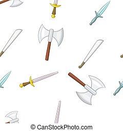 armas, militar, estilo, caricatura, Padrão