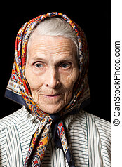 Old women - Aging process - very old senior women smiling...