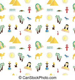 egypt flat design - the background in the style of a flat...
