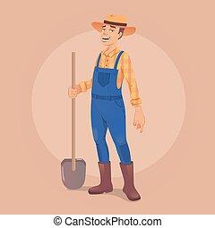 Farmer vector illustration - Vector illustration of a farmer...