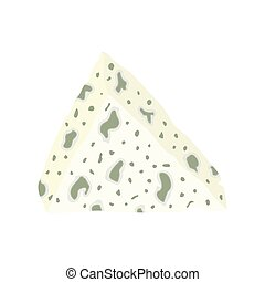 soft cheese with a blue mold. vector illustration on a white...