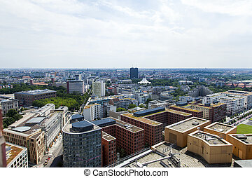 Berlin Potsdamer Platz and Skyline from Above - Berlin...
