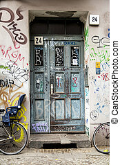 Grungy Entrance - Grungy entrance to an urban apartment...