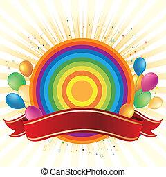 rainbow and balloon