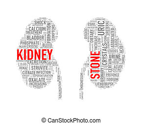 Kidney shape wordcloud wordtag stone - Illustration of...