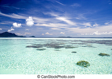 Open Sea - Image of the open sea in Malaysian waters.