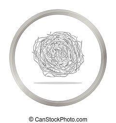 Tumbleweed icon monochrome. Singe western icon from the wild...