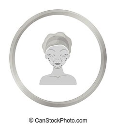 Cosmetic plastic surgery icon in monochrome style isolated on white background. Skin care symbol stock vector illustration.