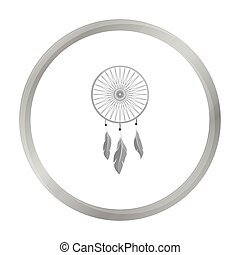 Dreamcatcher icon monochrome. Singe western icon from the wild west monochrome.