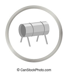 Playground tunnel icon in monochrome style isolated on white...