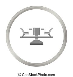 Carousel icon in monochrome style isolated on white...