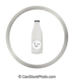 Drain cleaner icon in monochrome style isolated on white...