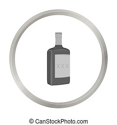 Alcohol icon monochrome. Singe western icon from the wild west monochrome.