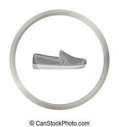 Moccasin icon in monochrome style isolated on white...