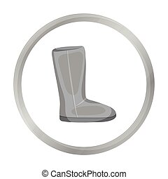 Ugg boots icon in monochrome style isolated on white...