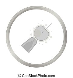 Artificial insemination icon in monochrome style isolated on...