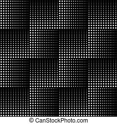 Dotted line geometric seamless pattern. Repeating dotted...