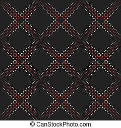 Dotted line geometric seamless pattern. - Dotted Line...