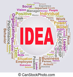 Wordcloud words tags of idea - Illustration of circular...
