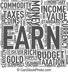Wordcloud tags of earn money - Illustration of wordcloud...