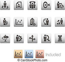 Company Strategy Icons - Metalbox Series - The vector file...