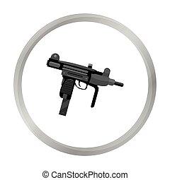 UZI weapon icon monochrome. Single weapon icon from the big...