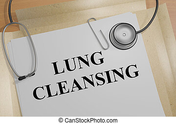Lung Cleansing - medical concept - 3D illustration of 'LUNG...