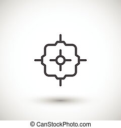 Junction box line icon isolated on grey. Vector illustration
