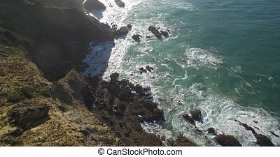 linie, atlantisch, Luftaufnahmen,  portugal, kueste